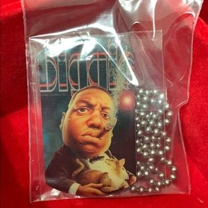 Other - NWT Biggie Dog Tag and Chain 90's themed dog tags